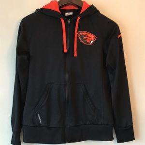 Nike Women's Black Jacket Hoodie Beavers OSU